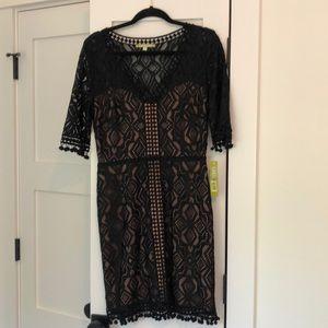 Black lacy Kristia Dress by Gianni Bini